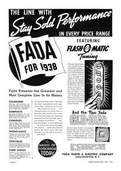 Fada ad from Radio Retailing July 1937 p6