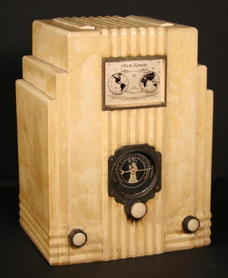 Air King 66 Radio with Globes & Mother of Pearl Finish (1935)