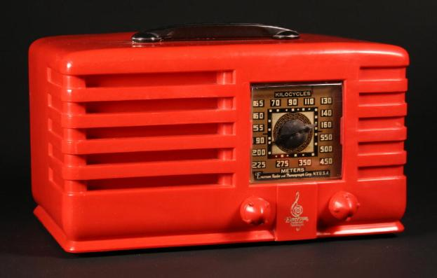 Emerson EP-381 Table Radio in Red Plaskon