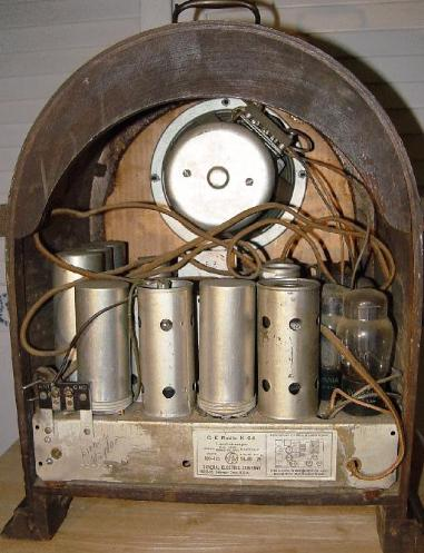 GE K-64 Cathedral Radio Rear View (1933)