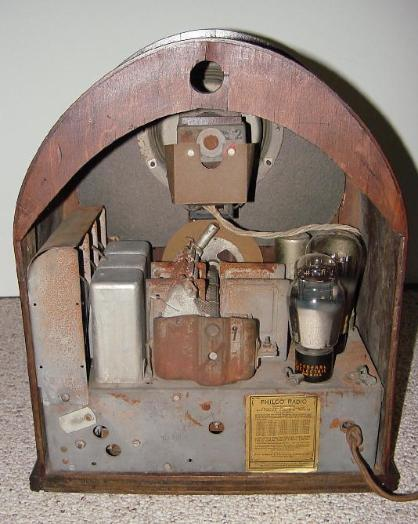 Philco 52B Cathedral Radio Rear View