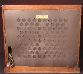 Philco 16RX Remote Speaker Rear View - Screen Attached (1933)