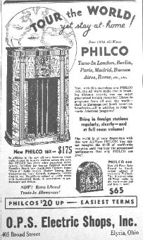 Philco 16X ad (April 1934) - click to enlarge