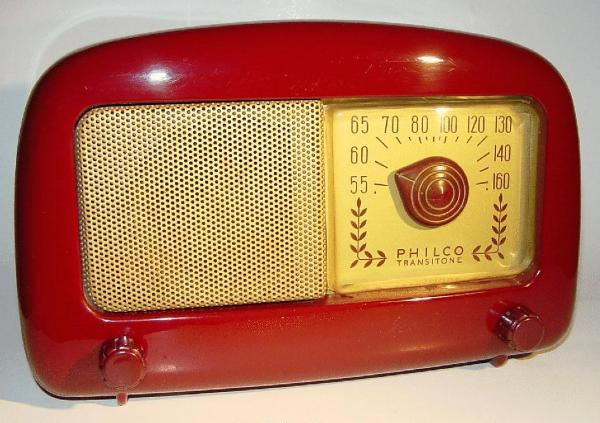 Philco 48-225 'atomic' Plastic Table Radio (1948)