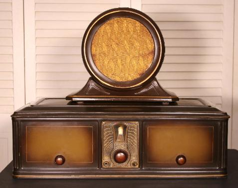 Philco 511 Metallic Table Radio & 211 speaker (1928)