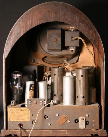 Philco 60B Cathedral Radio (2nd version of third style) Rear View