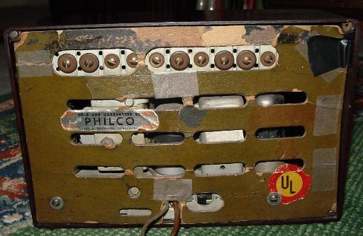Philco TP-5 Bakelite Table Radio Rear View (1939)