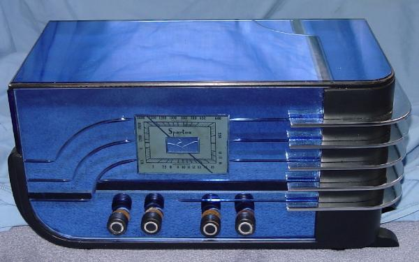 Sparton Deluxe Model 558-B blue-mirrored Sled
