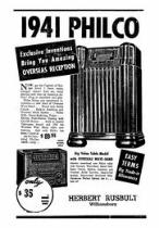 Philco 41-290X ad. Click to enlarge. Sept 19th 1940.