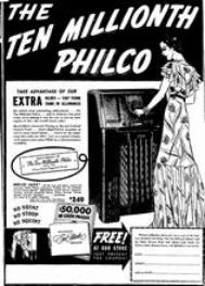 Ten Millionth Philco Newspaper ad (Nov 1937)