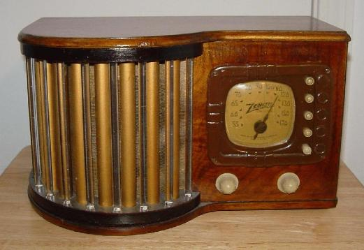 Zenith 5-R-317 Glass Rod Radio (1939)